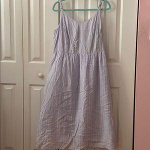 Old Navy Cami Lavender Striped Dress